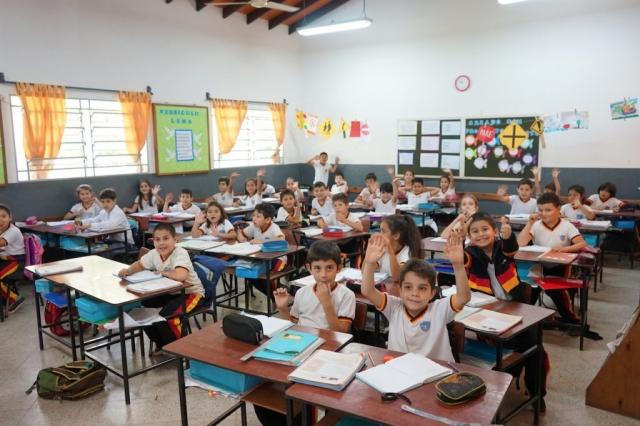 Schüler in der Gutenbergschule.