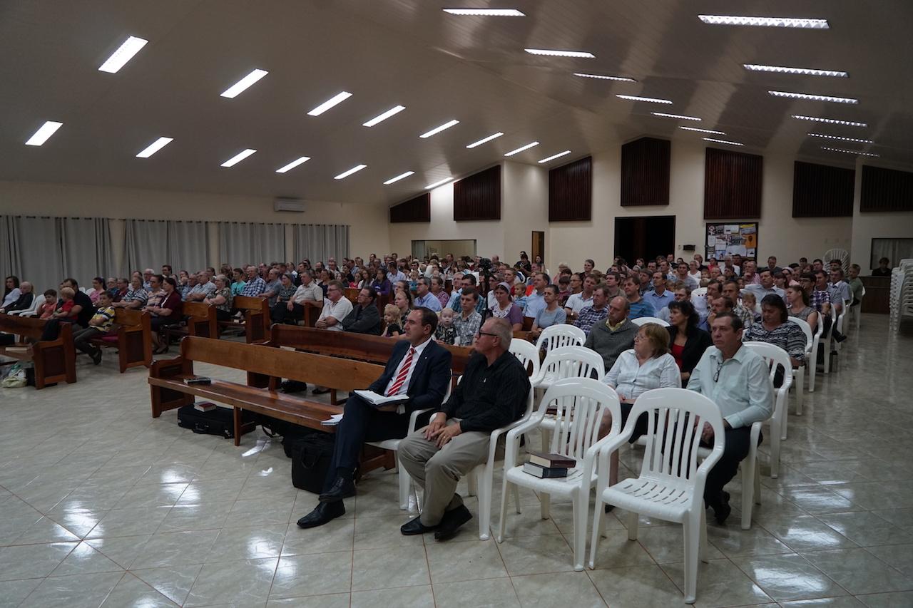Gottesdienst in der Kolonie Tres Palmas.