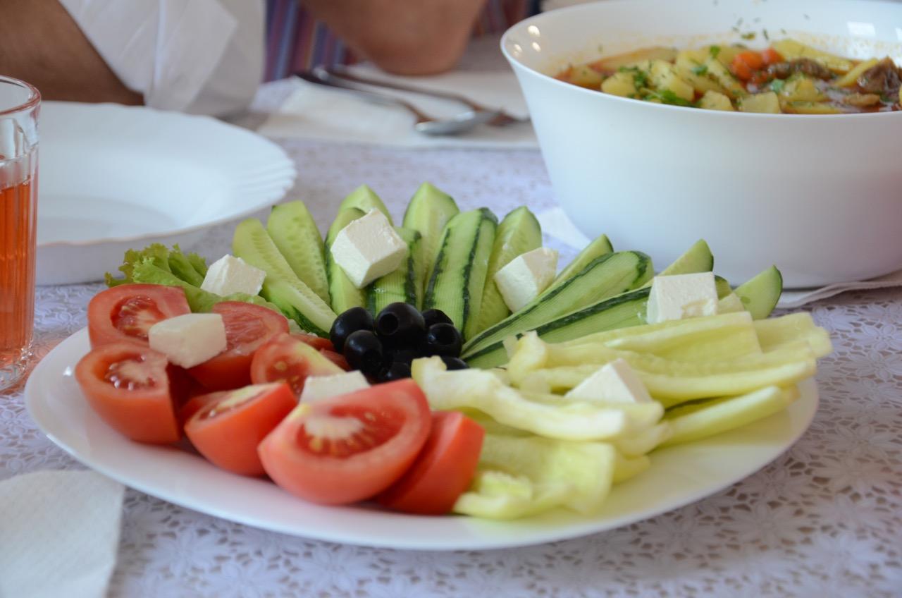 Frisches Gemüse. Ein Highlight in Zarechchya.
